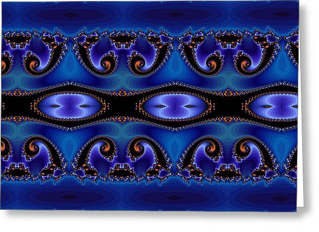 Blue Energy Abstract Greeting Card by Sabre Tooth