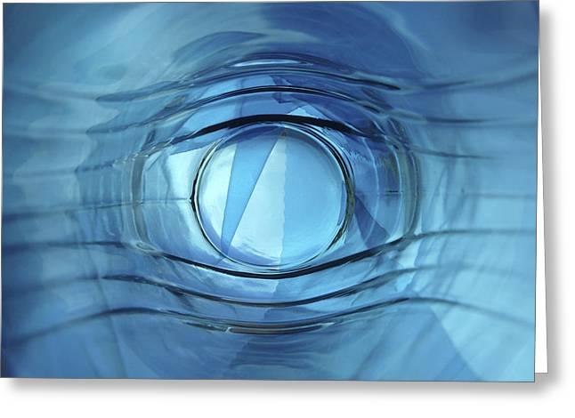 Blue Eye Greeting Card by Carlos Vieira