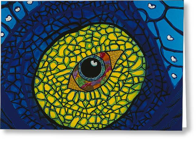 Blue Eye Greeting Card by Patrick OLeary