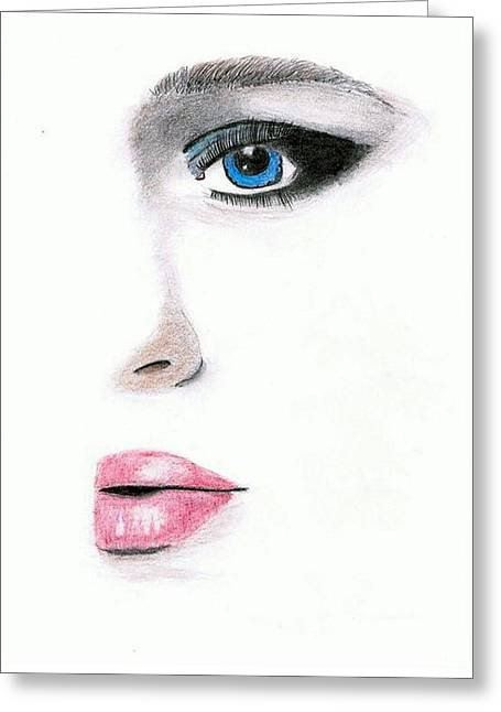 Blue Eyed Beauty Greeting Card by Larry Ferreira