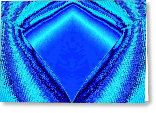 Blue Fabric Greeting Card