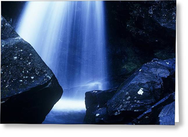 Greeting Card featuring the photograph Blue Falls by Rodney Lee Williams