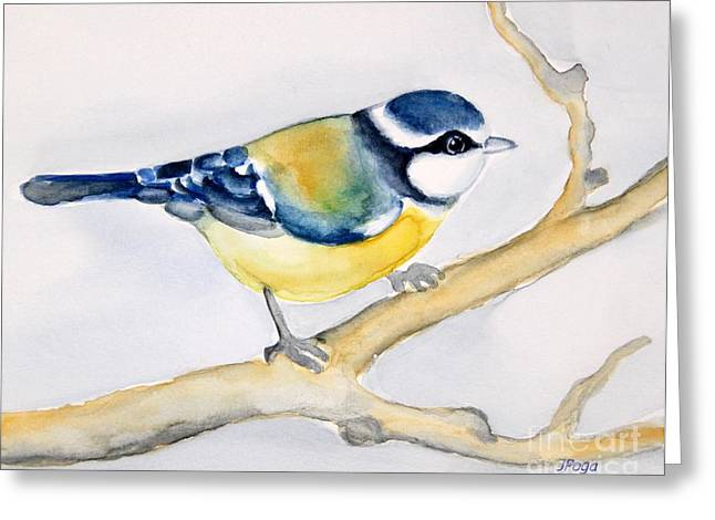 Blue Finch Greeting Card
