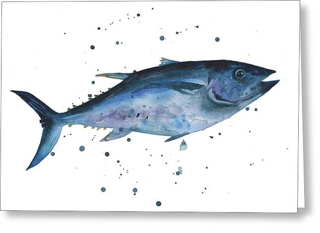 Blue Flash Tuna Greeting Card