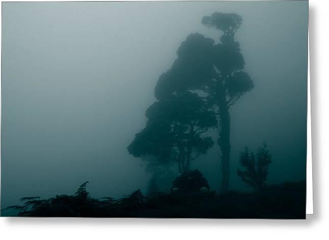 Blue Fog Greeting Card by Kabir Ghafari