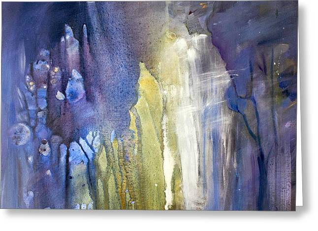 Blue Forest  Greeting Card by Tanya Byrd