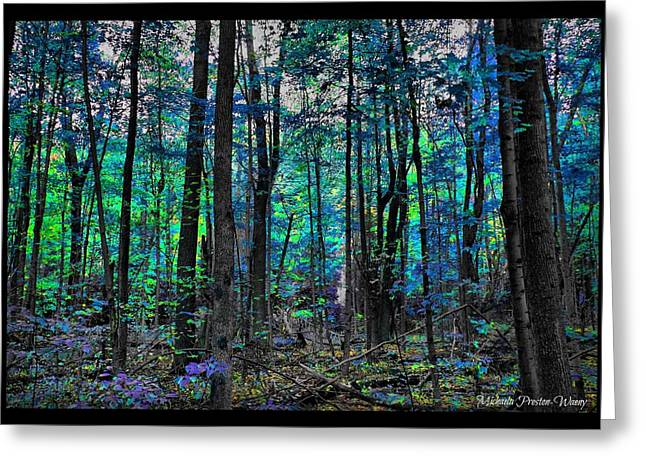 Greeting Card featuring the photograph Blue Forrest by Michaela Preston