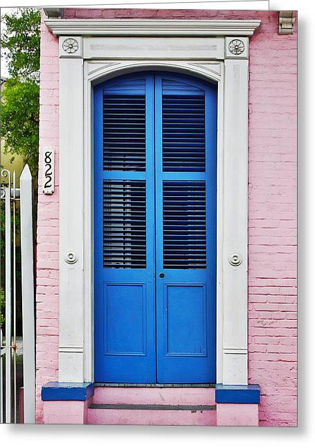 Blue Front Door New Orleans Greeting Card