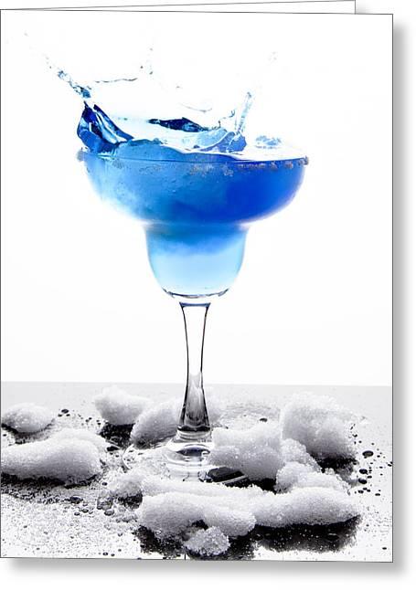 Blue Frozen Iceberg Margarita Splash Greeting Card
