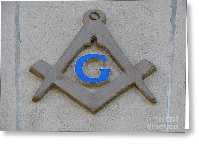 Blue G Greeting Card