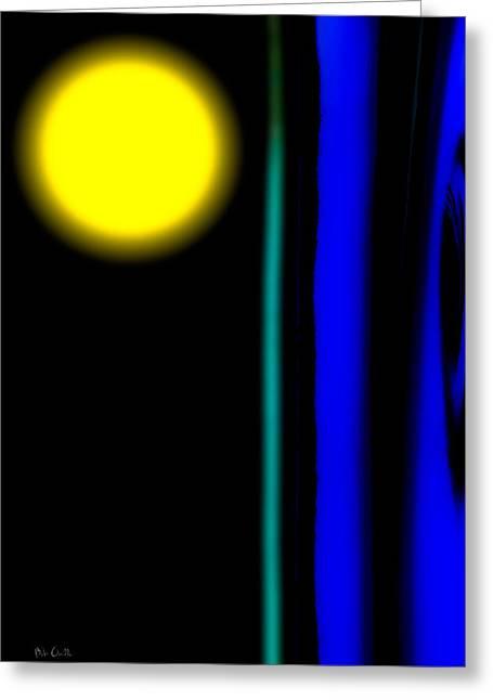 Blue Glass Greeting Card by Bob Orsillo