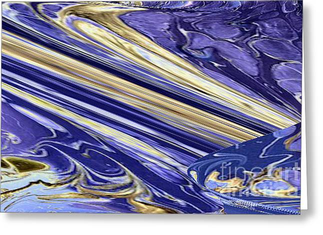Blue Gold Greeting Card by Gabriele Mueller