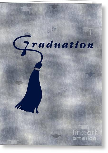 Blue Graduation Greeting Card