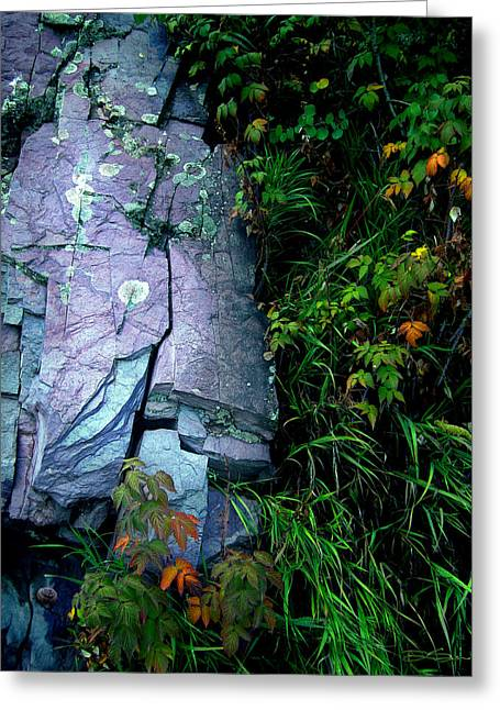 Blue Granite Greeting Card by Ric Soulen