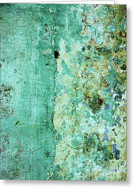 Blue Green Wall Greeting Card