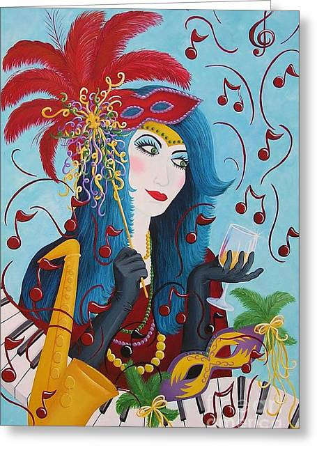 Blue Haired Lady Greeting Card