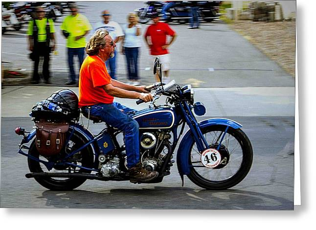 Blue Harley 46 Greeting Card