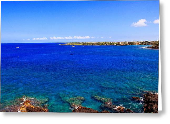 Greeting Card featuring the photograph Blue Hawaiii by Athala Carole Bruckner