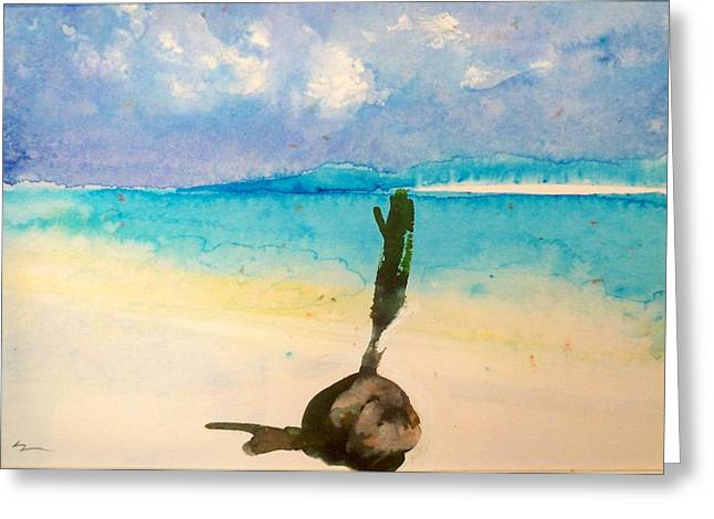 Greeting Card featuring the painting Blue Heaven by Ed  Heaton