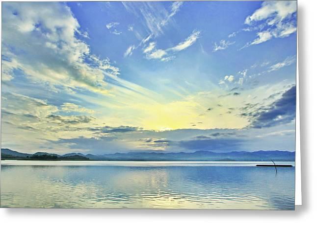 Blue Heaven Greeting Card by Suradej Chuephanich