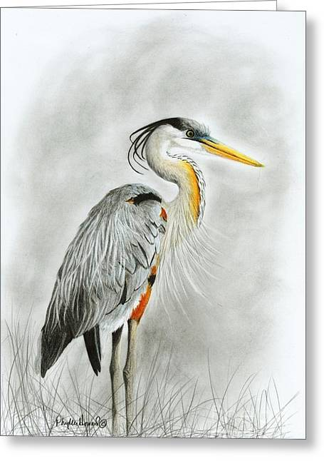 Blue Heron 3 Greeting Card