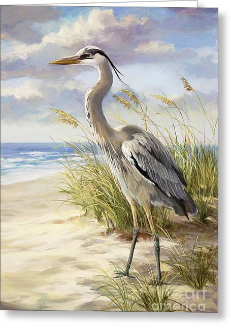 Blue Heron  Greeting Card by Laurie Hein
