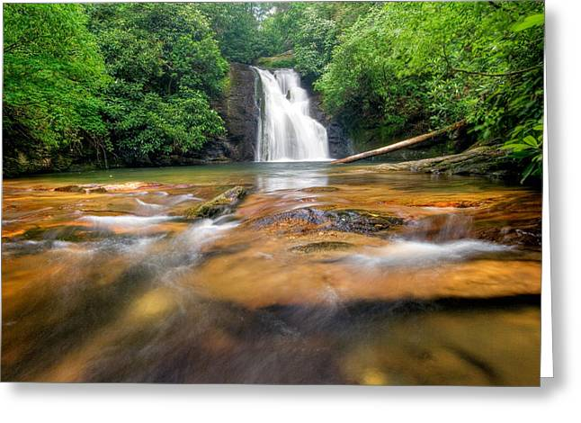 Blue Hole Falls Greeting Card by Scott Moore