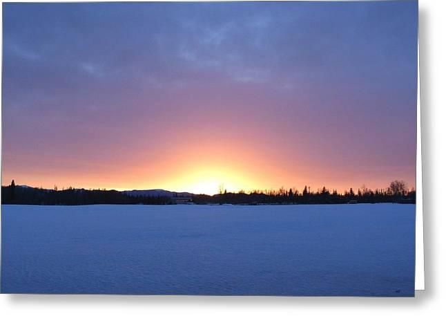 Blue Hour Cariboo Sunset Greeting Card