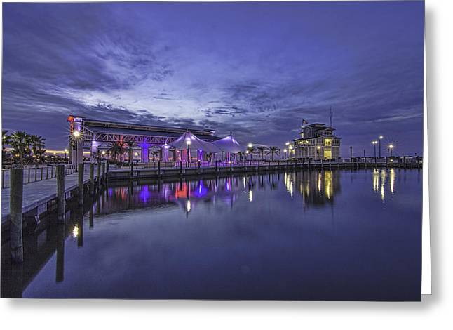 Blue Hour Dawn Greeting Card