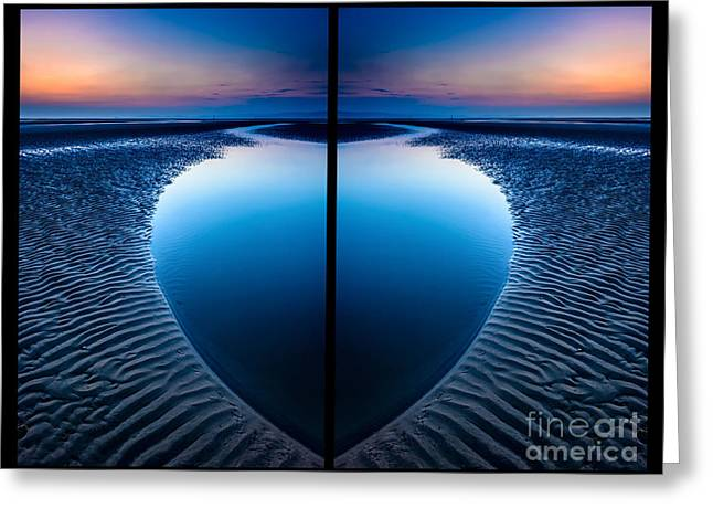 Blue Hour Diptych Greeting Card
