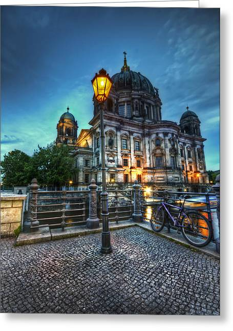 Blue Hour Dom Greeting Card by Nathan Wright