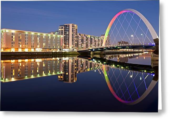 Blue Hour In Glasgow Greeting Card