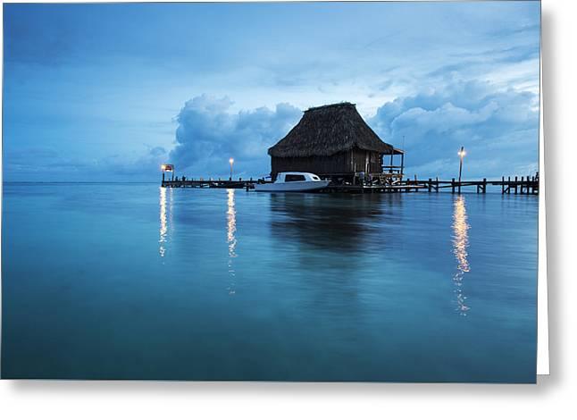 Blue Hour Landscape Greeting Card