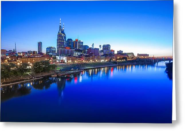 Blue Hour Over Nashville Greeting Card