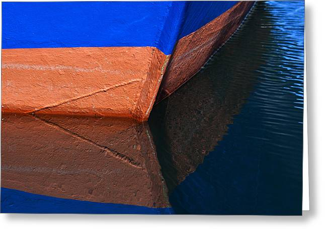Blue Hull Greeting Card by Carol Leigh