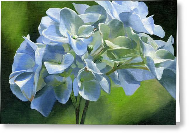 Blue Hydrangea Greeting Card by Alecia Underhill