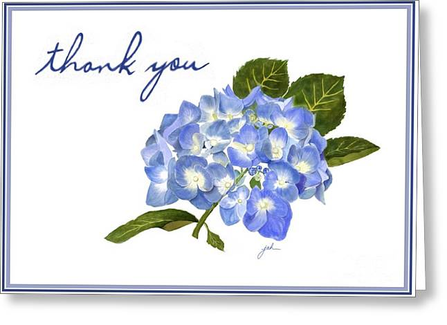 Blue Hydrangea Notecard Greeting Card