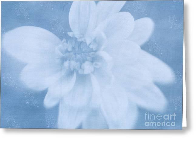 Blue Ice Fantasy Greeting Card