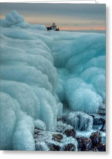 Blue Ice Sunrise Greeting Card