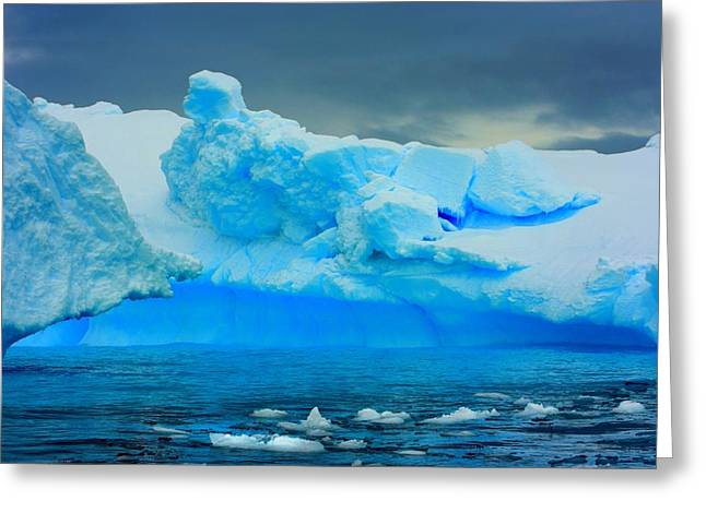 Greeting Card featuring the photograph Blue Icebergs by Amanda Stadther