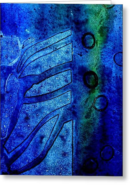Blue  IIi  Greeting Card by John  Nolan