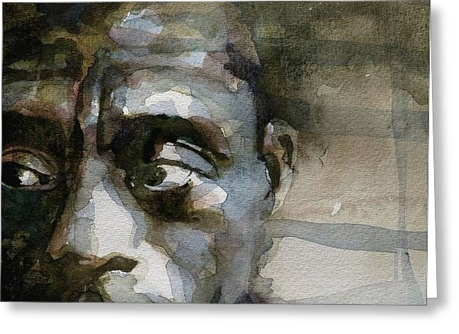 Blue In Green  Miles Davis Greeting Card by Paul Lovering