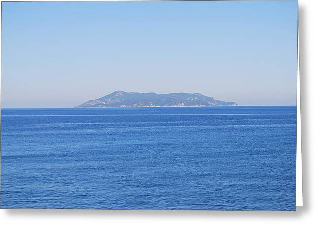 Greeting Card featuring the photograph Blue Ionian Sea by George Katechis