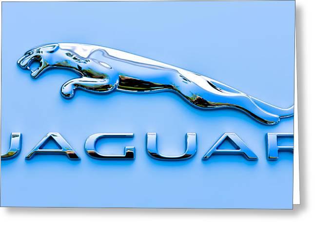 Blue Jaguar Greeting Card by Ronda Broatch