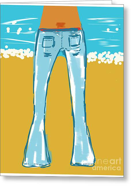 Blue Jean Summer Greeting Card