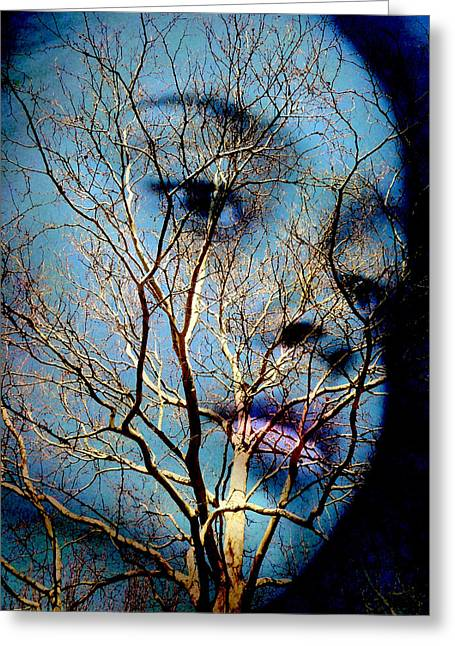 Blue Greeting Card by Jodie Marie Anne Richardson Traugott          aka jm-ART
