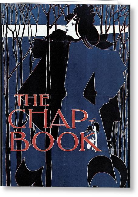 Blue Lady The Chap-book Greeting Card by William H Bradley