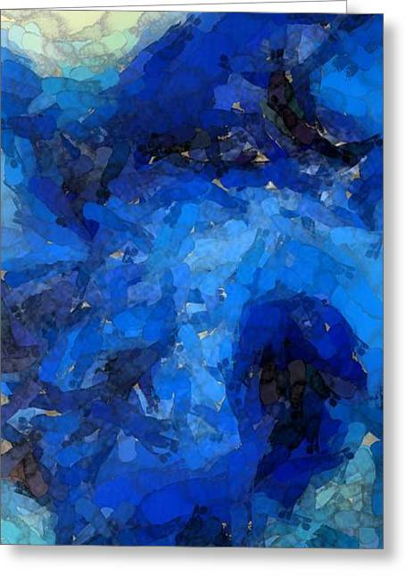 Blue Lagoon Greeting Card by Cole Black