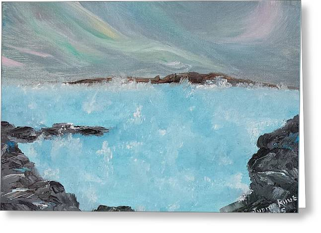 Blue Lagoon Iceland Greeting Card