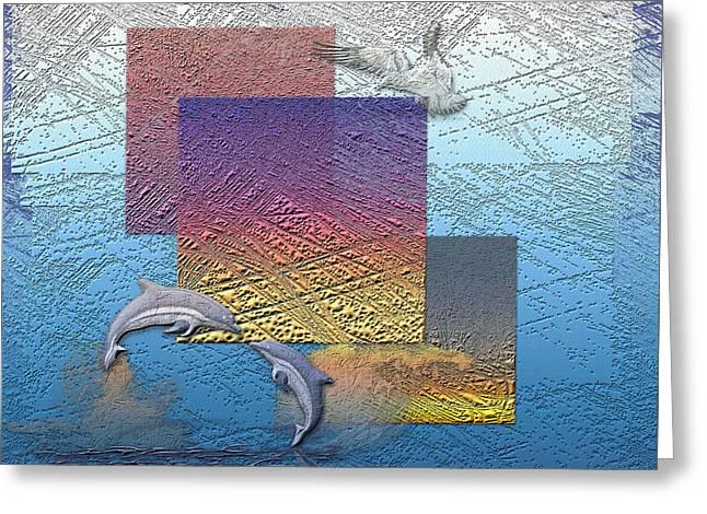 Blue Lagoon Sunrise  Greeting Card by Serge Averbukh